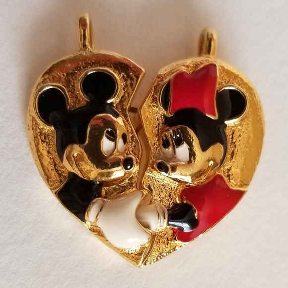 44419c112 Disney Jewelry   Vintage Mickey And Minnie Mouse Necklace Pendants ...